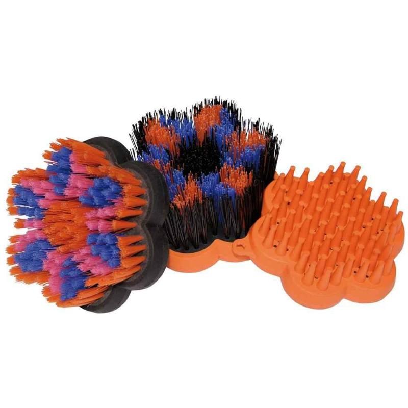 Set de brosses Flower Power Orange