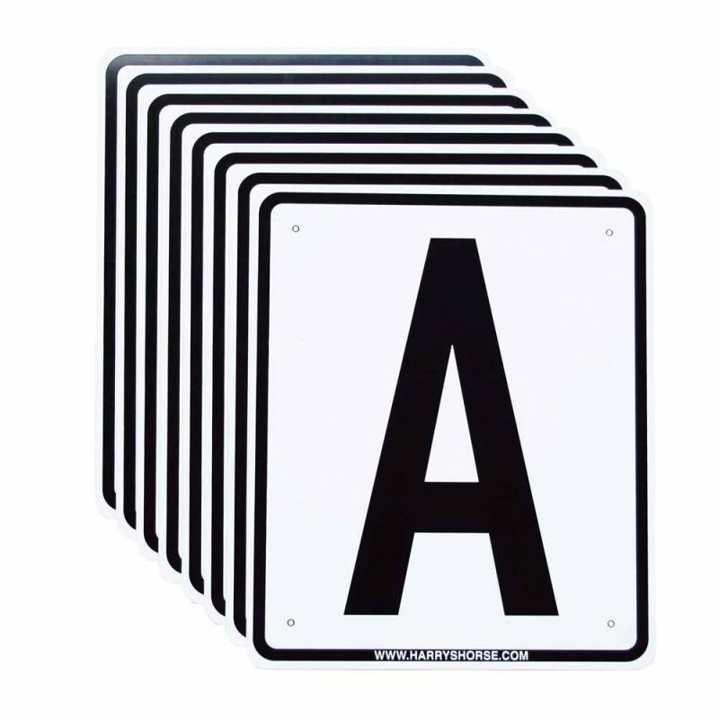 12 lettres de dressage PVC