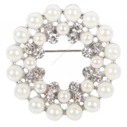 Broche Crystal perles & cristaux