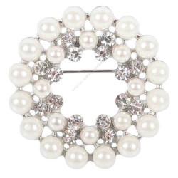 Broche Crystal perles & cristaux