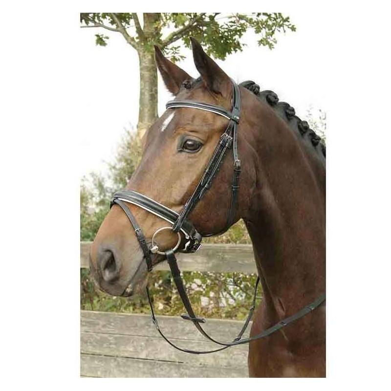 Bridon Harry's Horse à muserolle matelassée Blanc Cheval