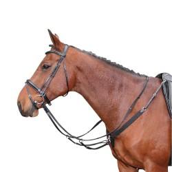 Collier de chasse Harry's Horse élastique Noir Cheval