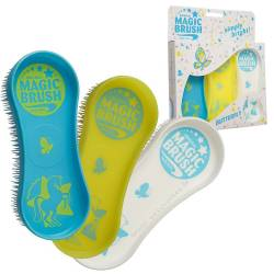 Harry's Horses Lot de 3 Brosses Magic Brush Butterfly