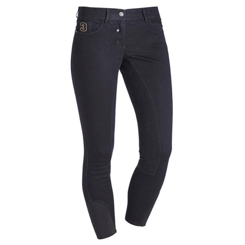 Pantalon d'équitation HV Polo Kate Fond peau Noir