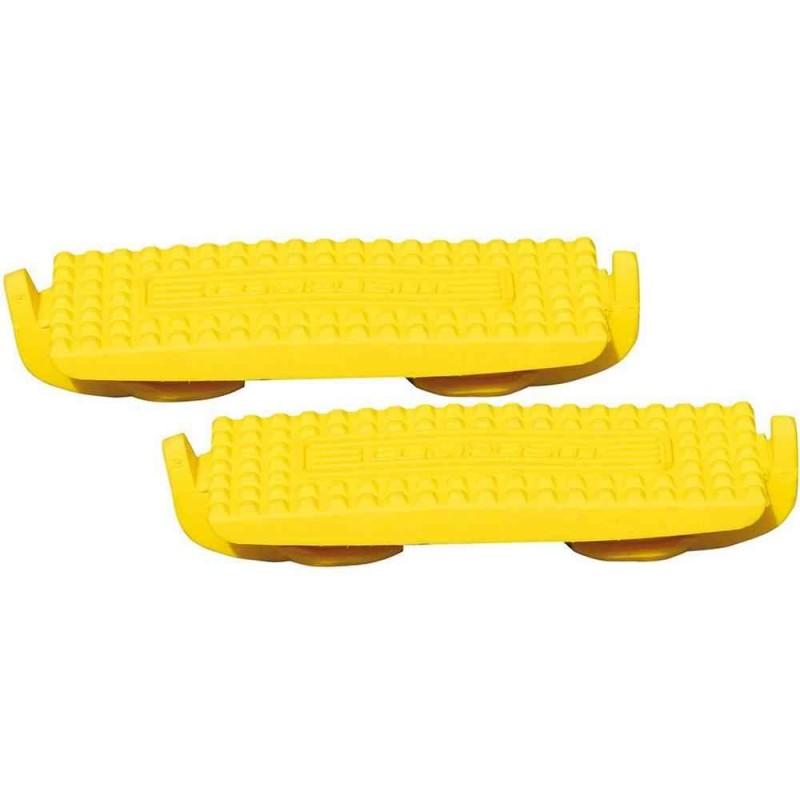 Semelles pour étriers Compositi Profile Premium jaunes